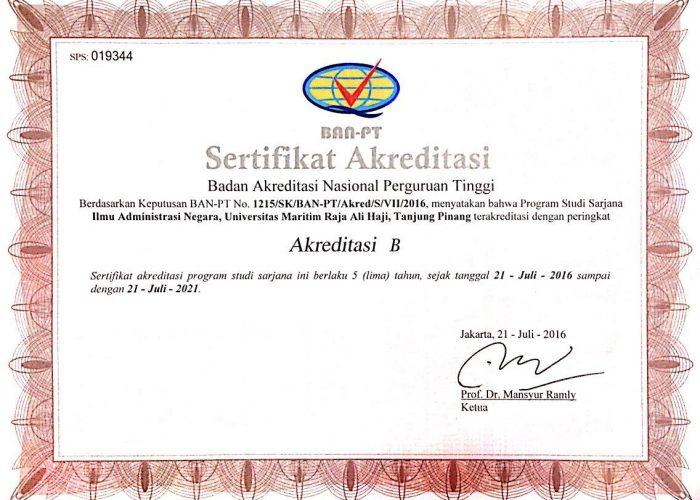 Sertifikat Akrditasi FISIP_Akreditasi IAN